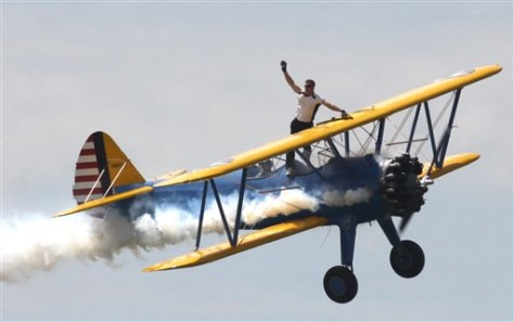 Image: Wing walker Todd Green