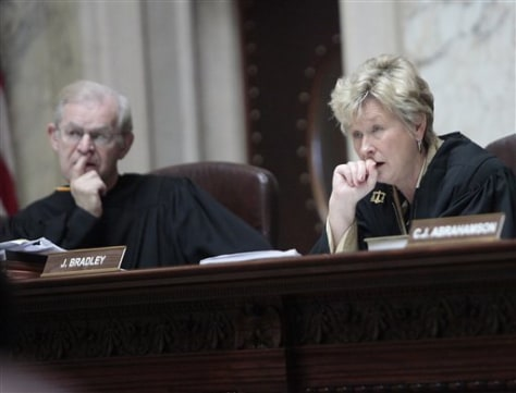 Image: Wisconsin Supreme Court Justices David T. Prosser, Jr., and Ann Walsh Bradley
