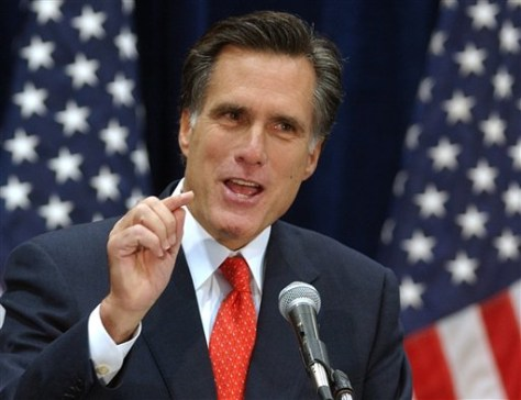 Massachusetts Gov. Mitt Romney