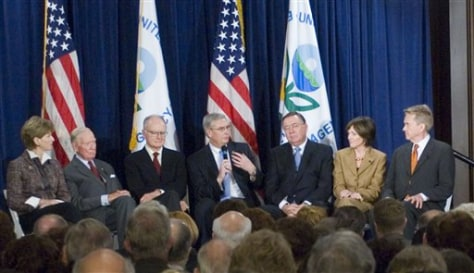 IMAGE: CURRENT, FORMER EPA CHIEFS