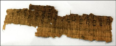 Image: Papyrus fragments