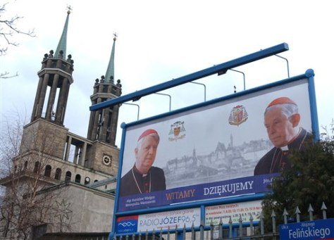 IMAGE: Billboard of Wielgus and Glemp