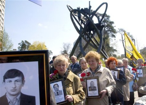 IMAGE: RELATIVES OF CHERNOBYL VICTIMS