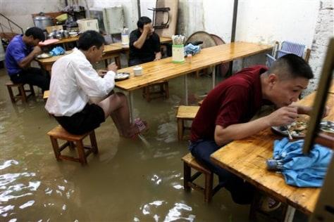 IMAGE: FLOODED RESTAURANT