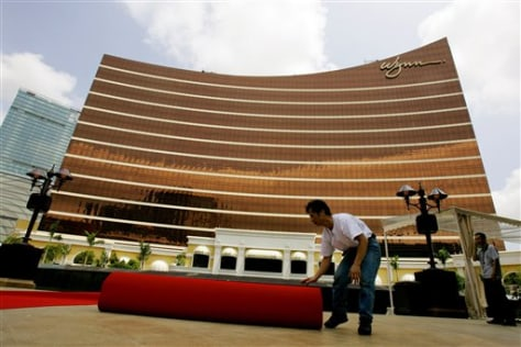 CORRECTION MACAU WYNN CASINO