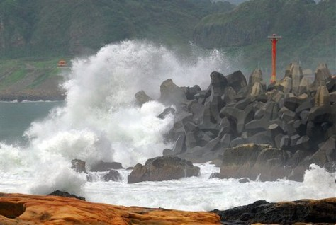 IMAGE: HIGH SURF FROM TYPHOON