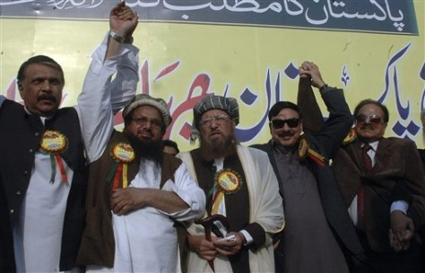 Image: Hafiz Saeed Ahmed, second from left