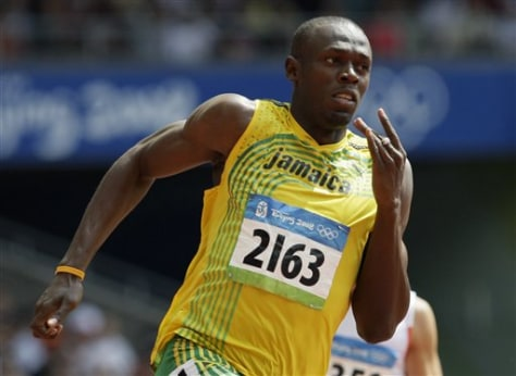 Beijing Olympics Athletics Mens 200M