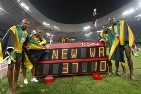 Beijing Olympics Athletics Mens 4x100m Relay