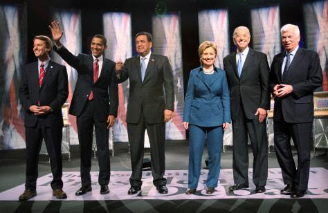 IMAGE: DEMOCRATS DEBATING