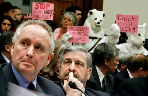 IMAGE: ACTIVISTS DRESSED AS POLAR BEARS
