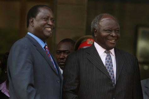 Image: Mwai Kibaki, Raila Odinga