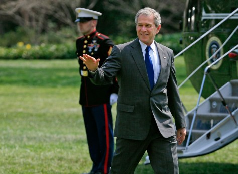 President Bush Returns To White House