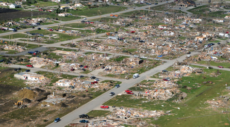 IMAGE: HOMES DESTROYED BY TWISTER