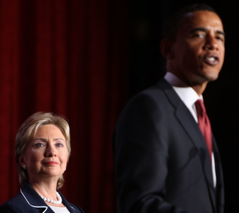 Barack Obama And Hillary Clinton Hold Fundraising Breakfast