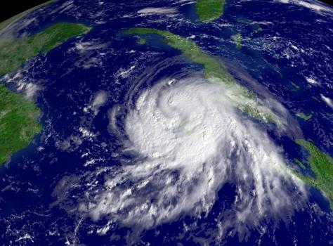 Image: Satellite view of Gustav
