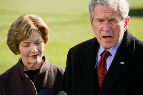 Image: President George W. Bush and Laura Bush