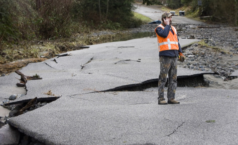 Image: Road damaged by floods
