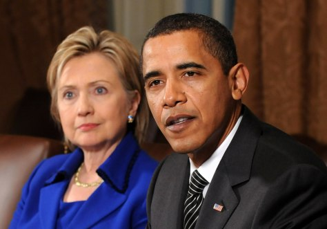 Image: President Barack Obama and Secretary of State Hillary Clinton