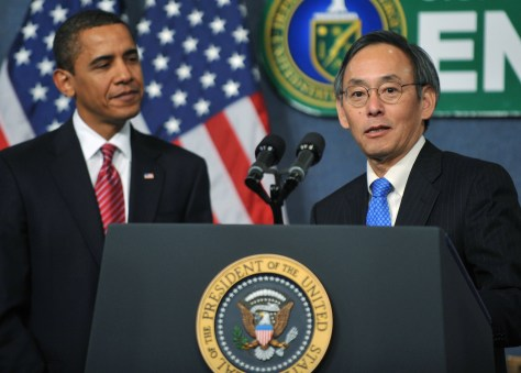 Image: Secretary of Energy Dr. Steven Chu, President Obama