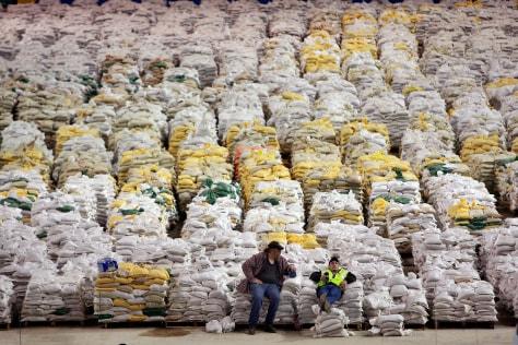Image: Sandbags inside Fargodome