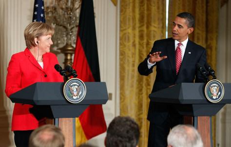 Image: Obama, Merkel