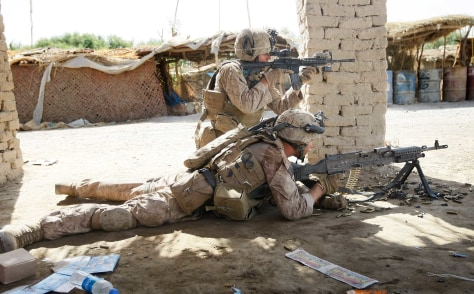 Image: Marines set up to return fire