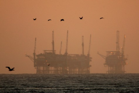 Image: Oil rigs off Santa Barbara