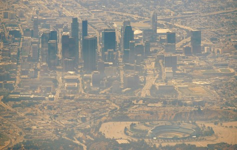 Image: Smoke over downtown Los Angeles