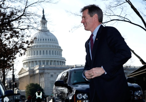 Image: Massachusetts Senator-Elect Scott Brown Comes To Capitol Hill