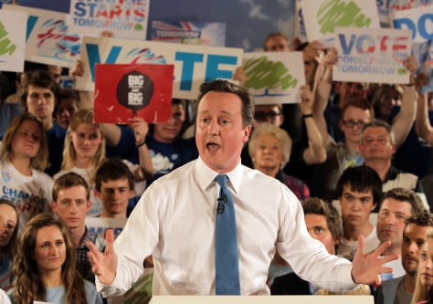 David Cameron Canvasses For Support On the Final Full Day Of The Campaign