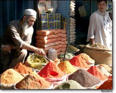 Image: Afghan spice merchants