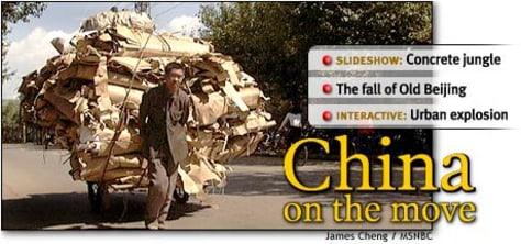 HEADLINE: China on the move; story navigation
