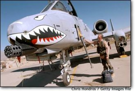 Image: A-10 Pilot At Bagram Air Base In Afghanistan