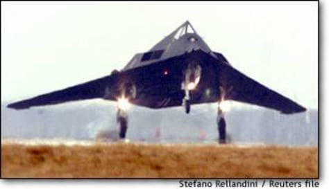 Image: F117 Stealth Figther Lands At Aviano Air Base