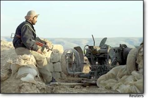Image: An Iraqi Kurd Watches The Hills Controlled By Iraqi Army Forces