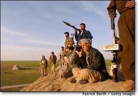 Image: Iraqi Kurds Prepare For Possible Attacks From Saddam Hussein's Regime