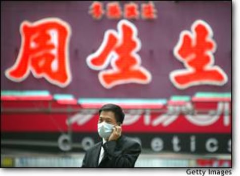 Image: A Honh Kong Resident Wears A Mask In Precaution For SARS