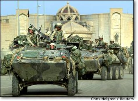 Image: U.s. Marines Occupy Saddam Hussein's Palace In Tikrit