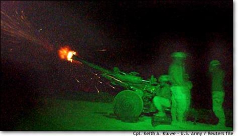 Image: U.s. Paratroopers Fire A Howitzer Near The Afghan Village Of Shkin