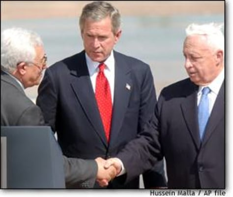 Image: Abbas, Bush, Sharon