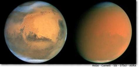 Image: Martian dust storm