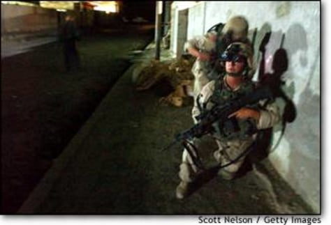 Image: U.S. troops patrol Samarra, Iraq