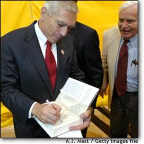 Image: Retired General Wesley Clark speaks at DePauw University, Greencastle, Ind.