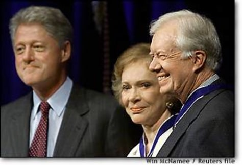 Image: Clinton Presents Former President Carter With Medal Of Freedom