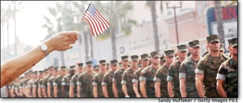 Image: Military Parade Celebrates Marines who fought in Iraq in Oceanside,CA