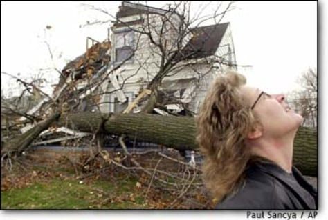 Image: Michigan home destroyed by storm