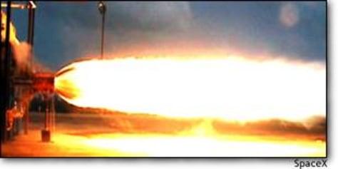 Image: Falcon engine test
