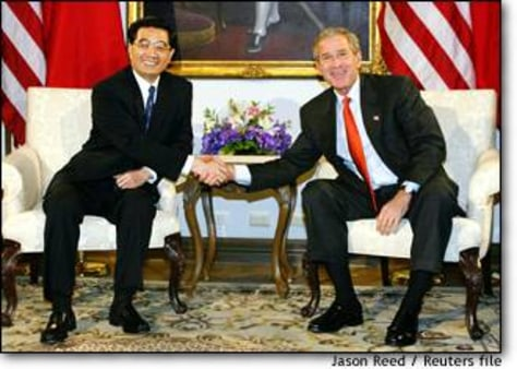 Image: Us President Bush Meets With China's President Hu Jintao In Bangkok