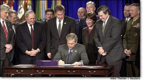 Image: President Bush Signs National Defense Authorization Act